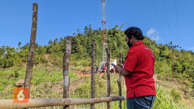 Telkomsel menggelar mobile BTS di Desa Pasiah Laweh, Sumbar (Foto: Telkomsel)