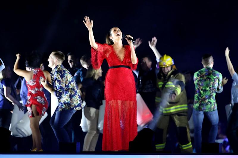 Ricki-Lee Coulter also took to the stage. Source: Getty