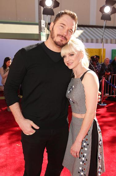 Chris Pratt and Anna Faris seen at Warner Bros. Pictures Los Angeles Premiere of 'The Lego Movie', on Saturday, Feb. 1, 2014 in Los Angeles. (Photo by Eric Charbonneau/Invision for Warner Bros./AP Images)