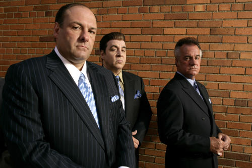 "FILE - This 2007 file photo originally supplied by HBO, shows James Gandolfini, left, Steven Van Zandt and Tony Sirico, right, members of the cast of the HBO cable television mob drama ""The Sopranos."" HBO and the managers for Gandolfini say the actor died Wednesday, June 19, 2013, in Italy. He was 51. (AP Photo/HBO,Craig Blankenhorn)"