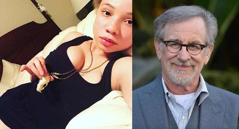 Mikaela Spielberg (left) said her father is supportive of her work and cares deeply for her well-being. — Pictures via Instagram/vandal_princess and AFP
