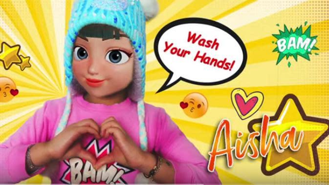 Video klip lagu berjudul Wash Your Hand itu sudah di tonton dua puluh ribu lebih sejak di publish 15 Maret 2020. Sebagai orang tua, Denada bersyukur dan bangga atas prestasi putrinya. (Youtube/Denada Official)