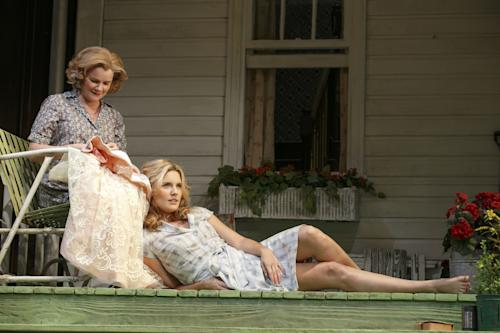 "This undated theater image released by Boneau/Bryan-Brown shows Mare Winningham, left, and Maggie Grace from a production of the Roundabout Theatre Company's ""Picnic."" (AP Photo/Boneau/Bryan-Brown, Joan Marcus)"