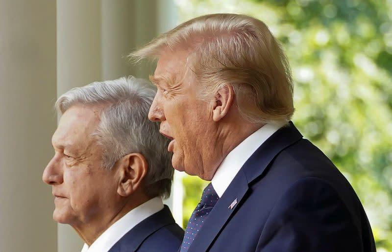 Mexican president exits Trump embrace smiling, Democrats grumble