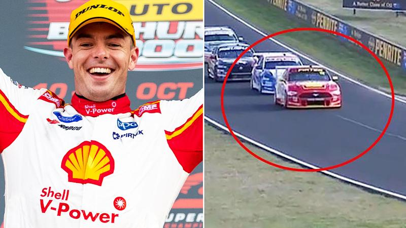 Scott McLaughlin won Bathurst after Fabian Coulthard's controversial slow down. Image: Getty