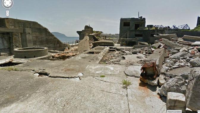 Pulau Hashima Jepang (Jon Rafman/Google Street View)