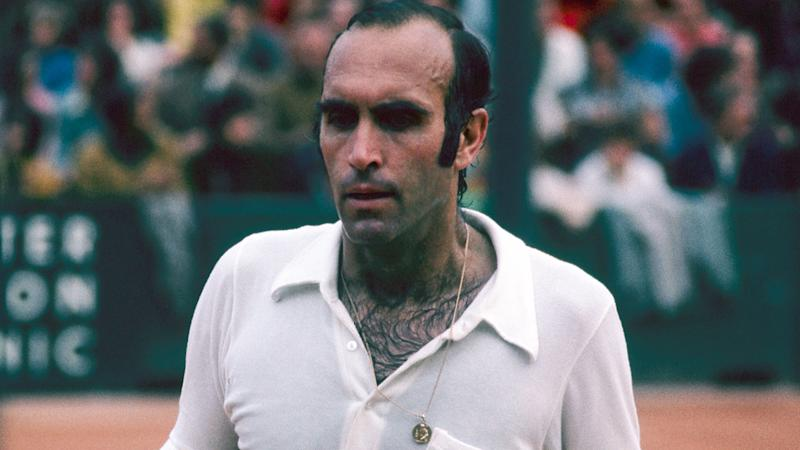 Andres Gimeno, pictured here during a match in 1970.
