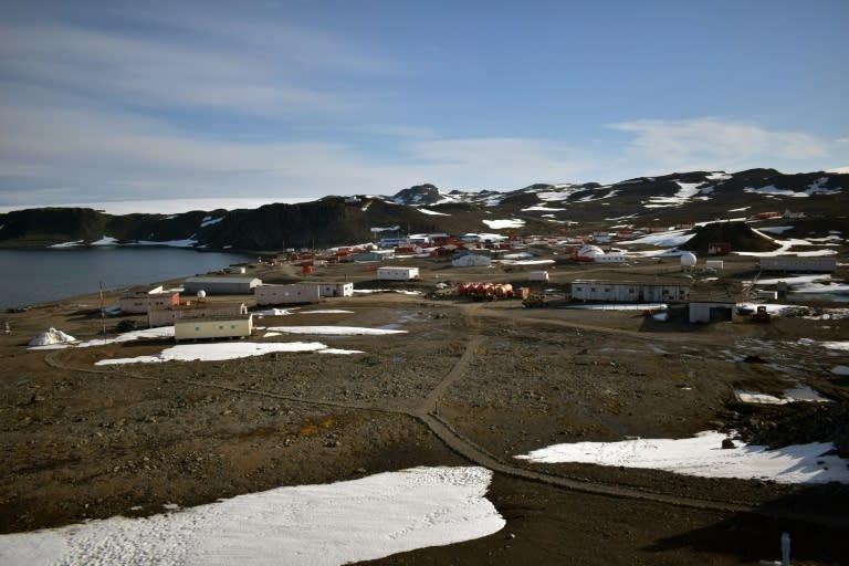 Chile's Eduardo Frei Antarctic base on the Fildes Peninsula, King George island on May 10, 2020