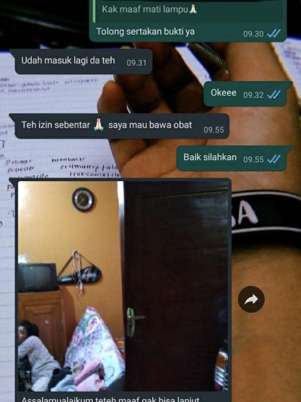 Chat izin off camera para maba yang bikin ketawa geli. (Sumber: Twitter/@foliccc)