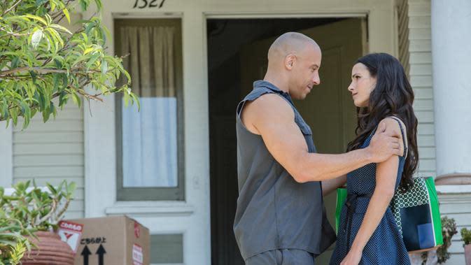 Vin Diesel dan Jordana Brewster di Fast & Furious 7. (dok.Universal)