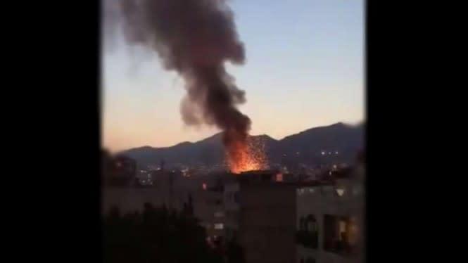 Ledakan Besar Terjadi Dekat Pangkalan Militer Iran