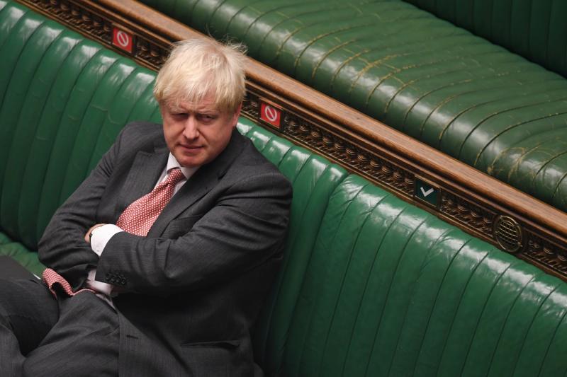 Britain's Prime Minister Boris Johnson attends a debate on the Internal Market Bill (via REUTERS)
