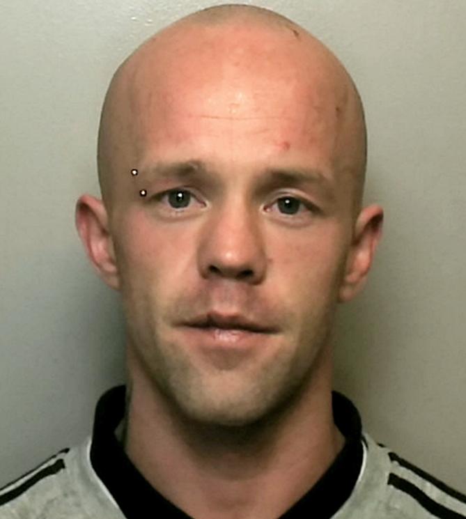 Arrest: Daniel O'Sullivan, 29, was jailed for stabbing Police Dog Audi