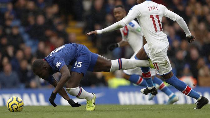 N'Golo Kante kerja keras saat Chelsea melawan Crystal Palace (AFP)