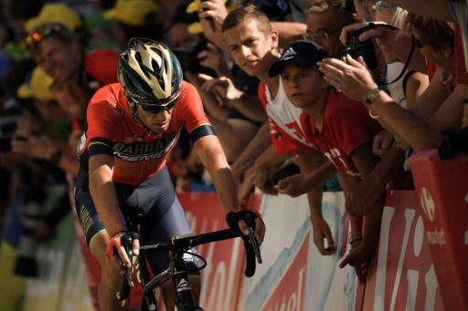 Vincenzo Nibali fractured a vertebra after colliding with a fan in this year's Tour de France