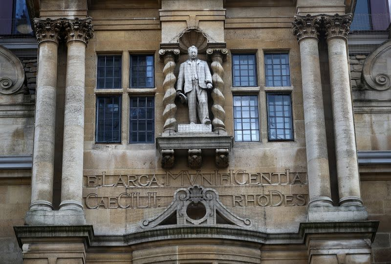 Protest for the removal of a statue of British imperialist Cecil Rhodes in Oxford