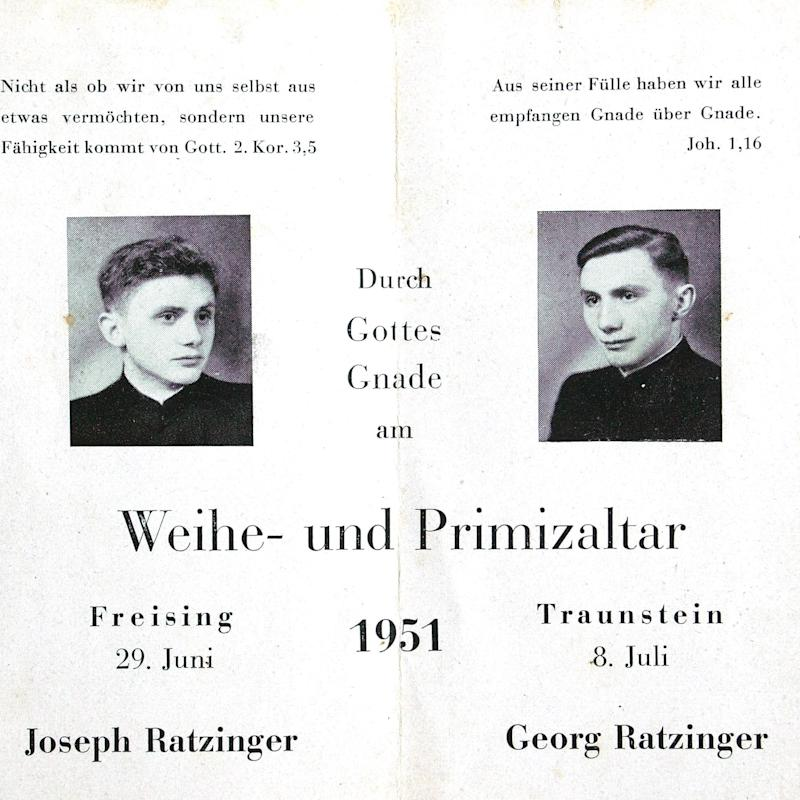 The brothers (Georg on the right) celebrated their first Masses in 1951 - AP