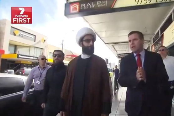 7 News witnessed the insults directed at Tawhidi during the visit. Photo: 7 News.