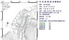 快新聞/台東縣清晨連四震 最大規模達4.6