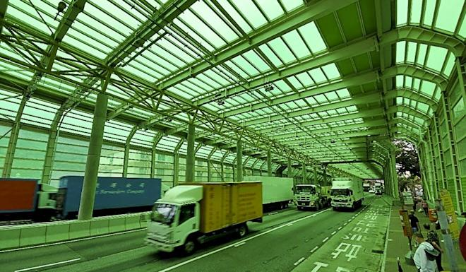 The interior of the new noise barrier on the Tuen Mun Highway, which won an award from a British engineers' group. Photo: Handout