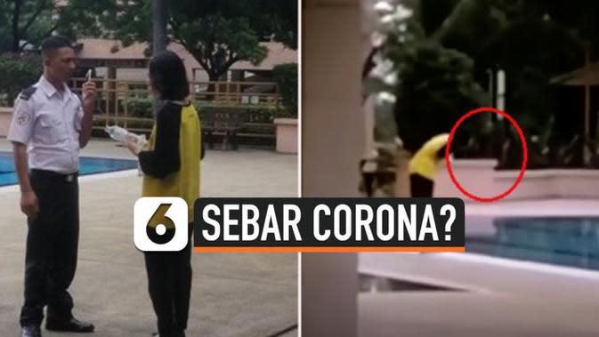 VIDEO: Diduga Sebar Corona, Mahasiswa China Meludah di Kolam Renang