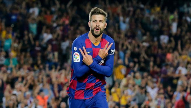 Gerard Pique - Bek andalan Barcelona ini pernah menjalani menjadi pemain Akademi Barcelona pada 1997-2004 lalu hengkang ke Manchester United. Pada tahun 2008, Pique kembali ke Barcelona dan mengisi pertahanan skuat Blaugrana hingga sekarang. (AFP/Pau Barrena)