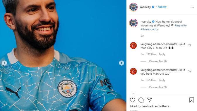 Seragam Manchester City. (Instagram)