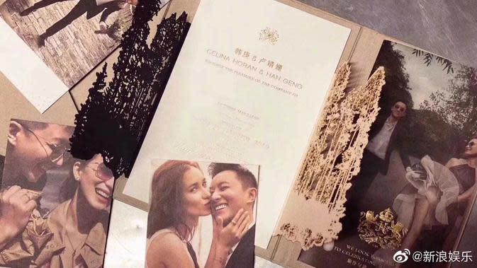 Undangan Pernikahan Hangeng eks Super Junior dan Celina (Koreaboo via Kapanlagi.com)