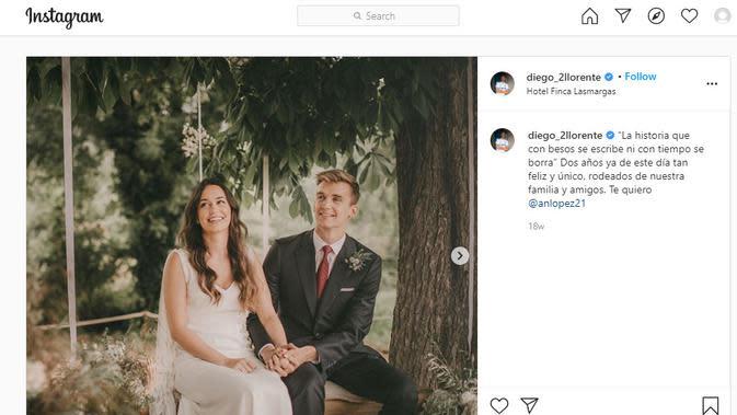 Diego Llorente dan Ana Lopez (Instagram)