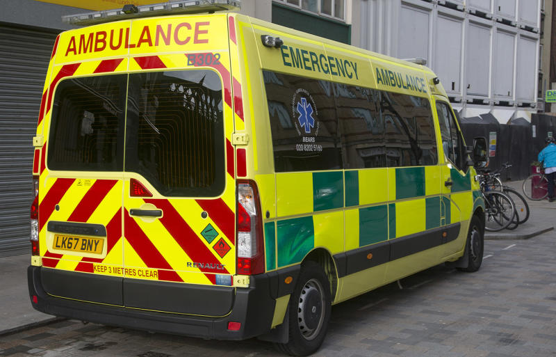 Leicester UK paramedics found a rude note left on Ambulance about a blocked driveway.