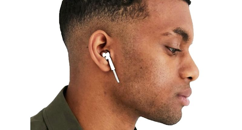 ASOS is selling faux earphones which mimic the look of Apple AirPods. [Photo: ASOS]