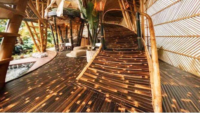 Nuansa sejuk Hideout Horizon Bali karya Studio WNA. (dok. Arsitag.com)