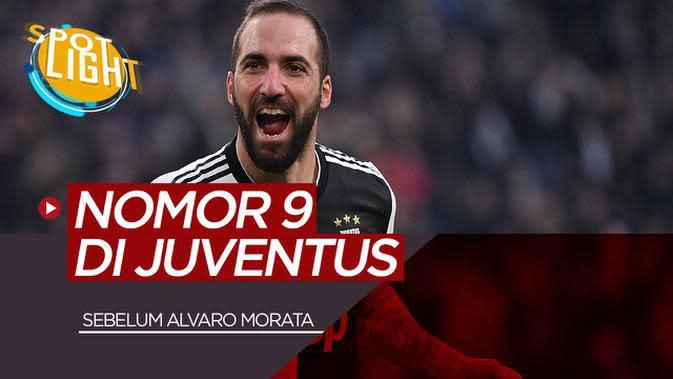 VIDEO: Sebelum Alvaro Morata, Inilah Pemain Juventus yang Menggunakan Nomor 9 Ada Gonzalo Higuain dan Mirko Vucinic