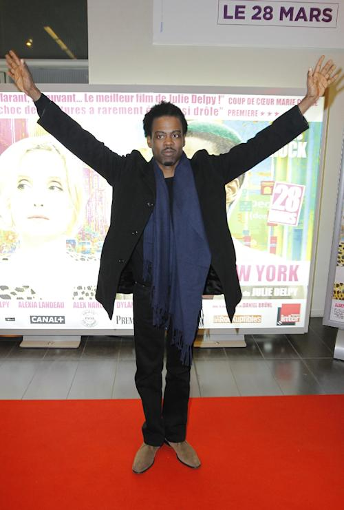"U.S Actor Chris Rock attends at the Premiere of ""2 Days in New York"" at the MK2 Paris movie cinema in Paris, France, Monday, March 19, 2012. (AP Photo/Jacques Brinon)"
