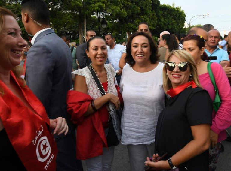 Bochra Belhaj Hmida(C)was the head of Tunisia's Individual Freedoms and Equality Committee