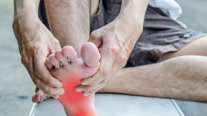 Ilustrasi telapak kaki