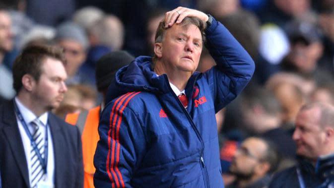 Manajer Manchester United asal Belanda, Louis van Gaal. (AFP/Glyn Kirk)