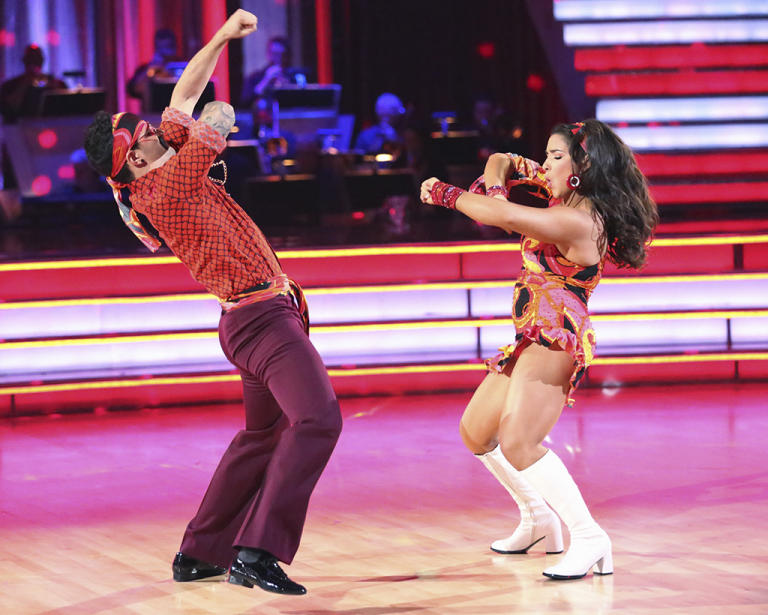 Mark Ballas and Alexandra Raisman (4/22/13)