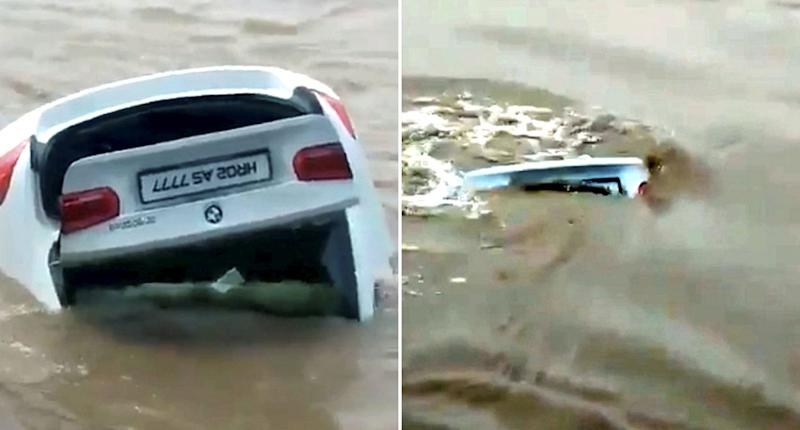 Man pushes birthday-gift BMW into a river