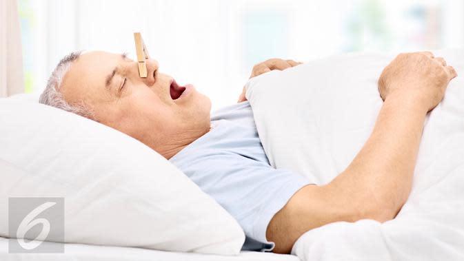Ilustrasi Foto Tidur Mendengkur atau Mengorok (iStockphoto)