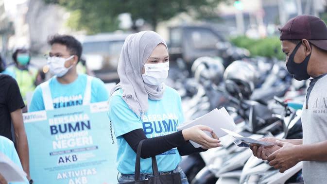 ANTAM Bersinergi dengan Satgas Bencana Nasional BUMN Kalbar Sosialisasikan Adaptasi Kebiasaan Baru