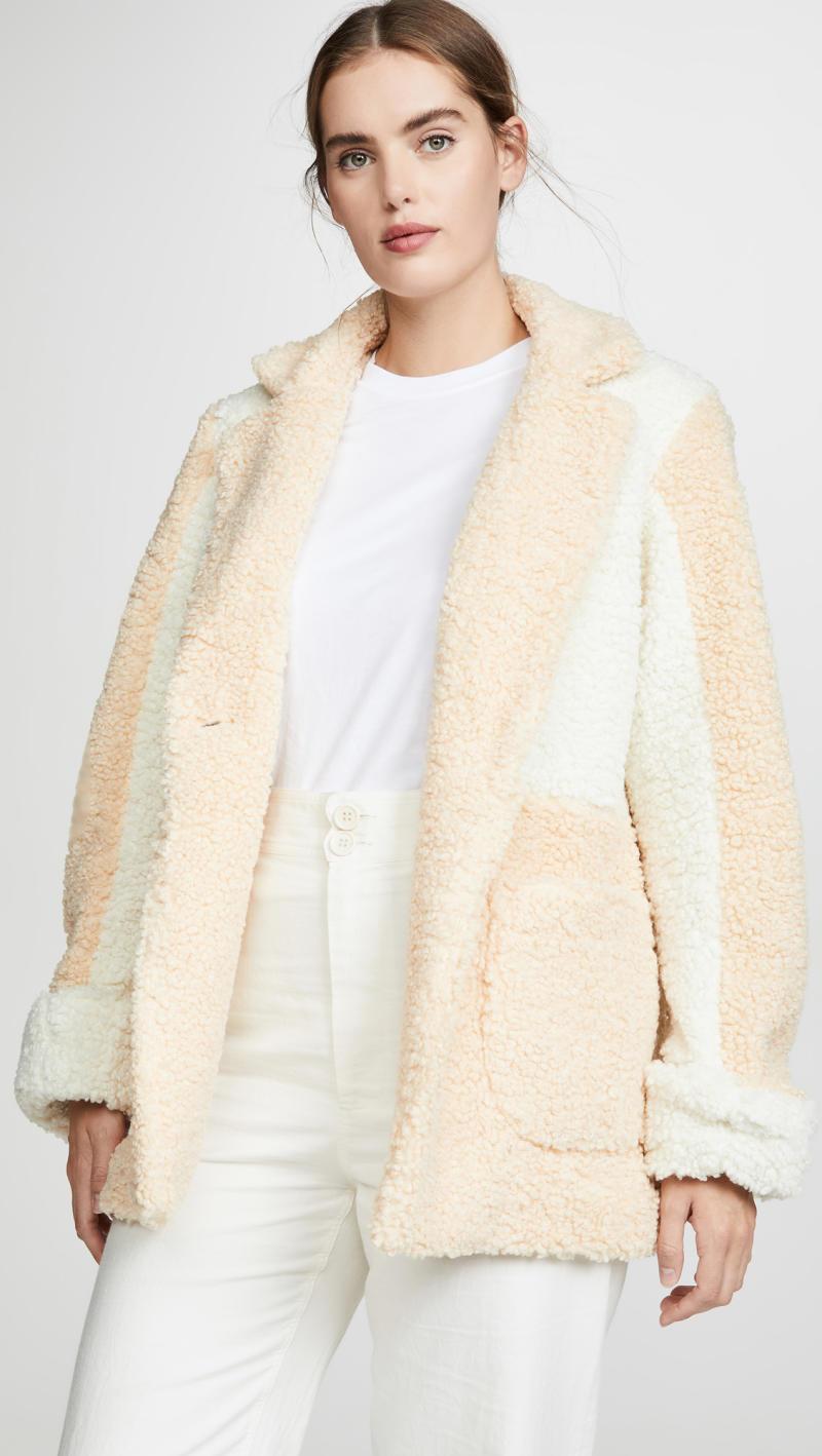 LAVEER Jane Colorblock Wolly Coat