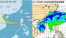 梵高颱風輸入水氣 明迎風面雨勢大