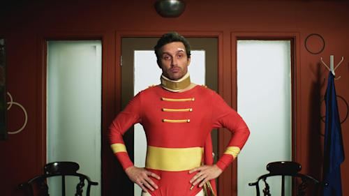 """This publicity photo released by Beck Media & Marketing shows Rob Benedict in a scene from the short film """"The Sidekick."""" (AP Photo/Beck Media & Marketing, Steve Lubensky)"""
