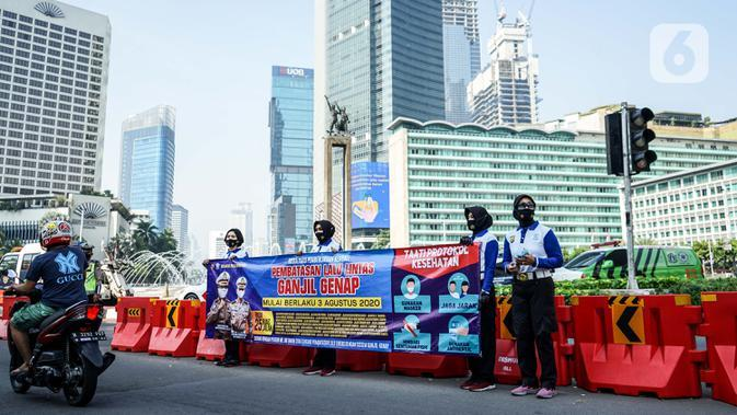 Polisi Belum Tilang Pelanggar Ganjil Genap di Jakarta pada 3 - 5 Agustus