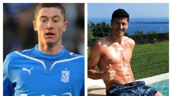 Transformasi tubuh Robert Lewandowski, Sumber Instagram