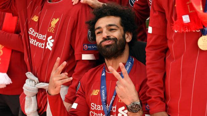 Real Madrid dan Bayern Munchen sama-sama mengungkapkan ketertarikannya untuk merekrut bintang Liverpool, Mohammed Salah. (AFP/Oli Scarff)