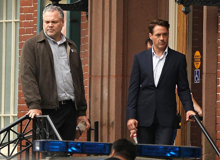 Stars On The Set Of 'The Judge'