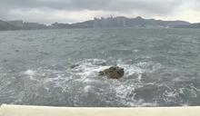 杏花邨風勢較大 海面有湧浪