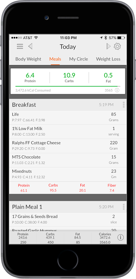 """<p>Created by bodybuilder and powerlifter<a href=""""https://getmymacros.com/blog/My-Macro-Coach-Results-Weight-Loss.html"""" target=""""_blank""""> Jason Loewry</a>, this app is made for people who are seriously dedicated to the """"If it Fits Your Macros"""" lifestyle. The app includes a macros countdown at the top to ensure you stay within your goals, body weight tracking, and a database with more than 1.5 million foods. Unlike the previous apps, which have a free version, MyMacros will cost you $2.99 and $1.99 each month for the premium version. There's even a macro coach feature, for an additional cost,  that determines your specific macros based on goals.</p><p>(starts at $1.99 for iOS, <a href=""""https://itunes.apple.com/us/app/my-macros-diet-calories/id475249619?mt=8"""" target=""""_blank"""">itunes.com</a>) </p>"""